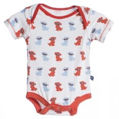 Print Short Sleeve One Piece in Natural Beach Pup