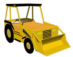 Digital Download: Front End Loader (twin Size) Bed Woodworking Plan