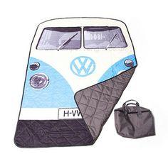 Campervan Gift - Volkswagen Blue Campervan Quilted Picnic Blanket, (http://www.campervangift.co.uk/volkswagen-blue-campervan-quilted-picnic-blanket/)