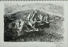 The Liancourt Rocks, also known as Dokdo or Tokto (Korean pronunciation: 독도) #pendrawings #storytelling #photodrawing  #kunst #drawing  #sketch #blackandwhite #capture #urbansketch #streetart #cityalley  #korea
