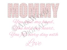 Mommy Printable Mothers Day Digital Download by  #ArkwoodDigitals £2.50  #etsy #shopping #buyhandmade