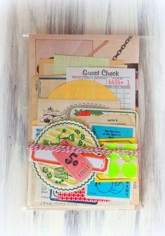 Charming Vintage Kitchen Cooking Paper Scrap Pack
