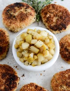 ... Risotto Cakes with Vanilla Salted Winter Pears for a cozy dinner