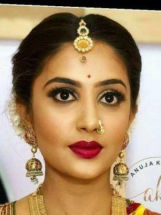 Pretty Asian Girl, Beautiful Girl Indian, Beautiful Girl Image, Beautiful Indian Actress, Girl Face, Woman Face, Nose Jewels, Fake Nose Rings, Glamorous Makeup