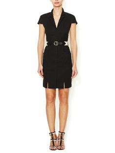 L'AGENCE - Cotton Belted Shirtdress