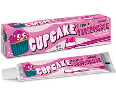 CUPCAKE TOOTHPASTE --Brushing your teeth with real frosting kind of defeats the purpose, but with our Cupcake Toothpaste you get all the fabulous flavor of frosting without another root canal!