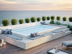 Small Swimming Pools, Small Pools, Swimming Pools Backyard, Swimming Pool Designs, Rooftop Terrace Design, Rooftop Patio, Terrace Ideas, Small Backyard Patio, Backyard Patio Designs