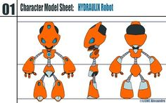 Hydraulix: Model Sheet by CryoKS on DeviantArt Character Reference Sheet, Character Model Sheet, Character Creation, 3d Character, Character Drawing, Character Concept, Concept Art, Cartoon Cookie, Cartoon Art
