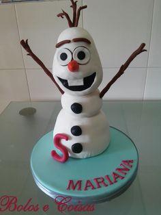 Bolos e coisas - Bolos decorados (Cake Design): Olaf do Frozen * Mariana
