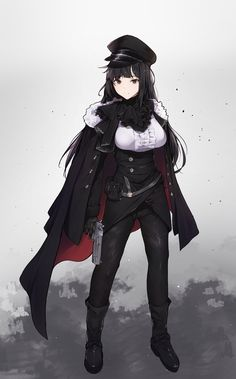 Anime Girls, Cool Anime Girl, Beautiful Anime Girl, Anime Art Girl, Manga Girl, Fantasy Character Design, Character Design Inspiration, Character Art, Anime Military