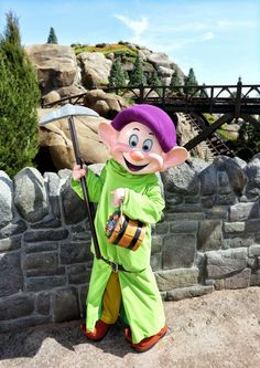 Dopey drops by Seven Dwarfs Mine Train at Magic Kingdom Park.