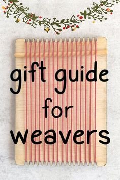 I've put together my favorite things - you'll find fun little gift ideas as well as essential tools and equipment for the weaving studio. #weaving #fiberart #giftsforweavers Weaving Loom Diy, Weaving Tools, Weaving Projects, Hand Weaving, Diy Projects, Loom Knitting Patterns, Bead Loom Patterns, Knitting Tutorials, Free Knitting