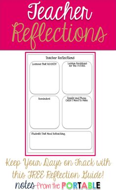 Such a simple tool but saved me so much time and energy. This reflection guide helped keep me on track all school year. Teacher Organization, Teacher Hacks, Organized Teacher, Teacher Stuff, Teacher Freebies, Classroom Freebies, Primary Classroom, Future Classroom, Classroom Ideas