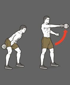 B2. Kettlebell Single-Arm Swing