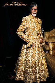 Amitabh Bachan in Abu Jani & Sandip Khosla couture