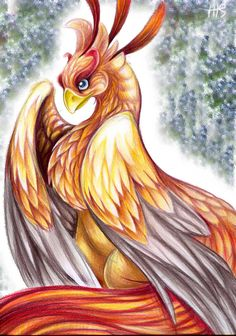 "Spirit Totem Animals:  ""Phoenix,"" by VixieArts, at deviantART."