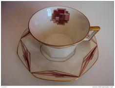 Art deco Limoges tea cup