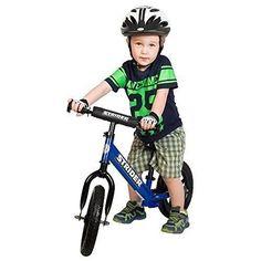 Strider 12 Sport Toddler Kids No Pedal Adjustable Balance Bike, Blue + Ski Set Kids Bicycle, Ski Set, Balance Bike, Bicycle Maintenance, Cool Bike Accessories, Exercise For Kids, Kids Sports, Cool Bikes, Child Room