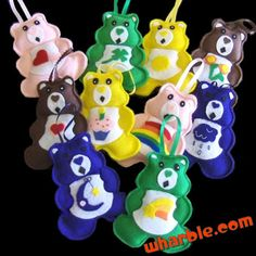 Care Bears Ornaments - I have these my mom made for me as a girl! They are hanging in my girls' bedroom!!!