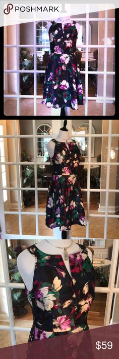 🆕 Nine West Berry Jam/ Emerald Multi Dress JUST IN‼️- What a beautiful dress!  This dress is fully lined and 100% Polyester.  💞 Nine West Dresses