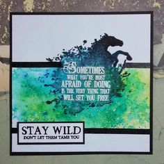 Breaking Free   Visible Image created by Teresa Morgan - inky horse stamp - stay wild