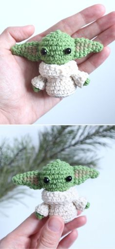 Sweet 25+ Baby Yoda Amigurumi Ideas. Any Star Wars fans out there? Well, if you like the series, you will surely love this little cutie! He's about 6,5 cm tall (however the height will depend on the yarn you'll use). You should use a 1,75 mm hook for this project. Let's start now and enjoy a new lucky charm in a heartbeat! #freecrochetpattern #amigurumi #yoda