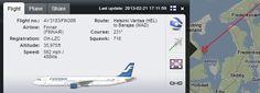 OH-LZC Airbus A321-211 Finnair  FIN38R Helsinki Vantaa (HEL) - Barajas (MAD) 17:11 13-02-21  ground location: 55.848578,12.542696 Vedbæk, DK