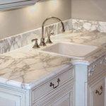 Calacatta Oro Marble in Bathroom photo gallery.