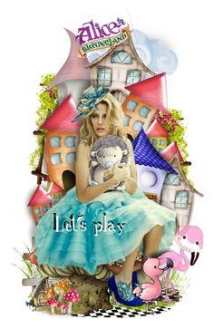 """Let's Play"" by rosie305 ❤ liked on Polyvore featuring art, aliceinwonderland, dollset and wonderlandfreaks"