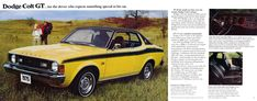 Carsthatnevermadeitetc — Dodge Colt brochure, 1975. A captive import AKA... Mitsubishi Colt, Mitsubishi Galant, Car Brochure, Old Cars, Dodge, Old Things, Brochures, Ads