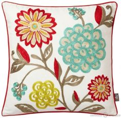 Playful floral #cushion