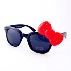 Hello Kitty Bow Geek Sunglasses #bow #sunglasses www.loveitsomuch.com