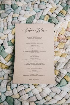 simple black type on kraft // photo by Sweet Little Photographs, styling by Sitting in a Tree Events, design by Urbanic Paper // View more: http://ruffledblog.com/copper-and-white-malibu-wedding/