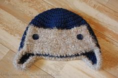 Little Miss Stitcher: Crochet Toddler Aviator Hat