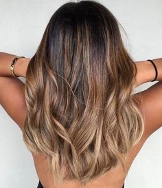 Trendy hair color blonde and brown ombre balayage ideas Ombre Hair Color, Hair Color Balayage, Brown Hair Colors, Hair Highlights, Caramel Highlights, Brown Highlights, Hair Colour, Balayage Hair Caramel, Ash Blonde Balayage