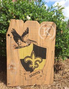 New Orleans Saints art on Reclaimed Cypress boards. $45