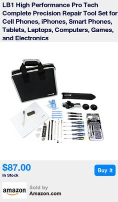 """Specially Designed by Technicians for Repairing Electronics, Mobile Cell Phones, Laptops, and Gaming Systems * Includes Specialty Tools for Apple Products Such as the Pentalobe """"Star"""" 0.8 mm, 1.2 mm, and 1.5 mm, Tri-Wing * Includes Various Spudgers [Pry Tools], Suction Cups, and ESD Safe Tweezers to Easily Open Any Device * Ergonomic Soft-Touch Magnetized Screwdrivers for the Most Comfortable Experience Possible * Durable Nylon Case Keeps the 86 Tools Organized with Handle to be Extremely Po"""