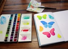 MagaMerlina: Butterfly Journal Page