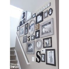 Incredible Wall Gallery Ideas For Perfect Wall Decor 1322 Diy Wall Decor, Diy Home Decor, Wall Decorations, Stair Wall Decor, Frame Wall Decor, At Home Decor Store, Letter Wall Decor, Church Decorations, Wedding Decorations