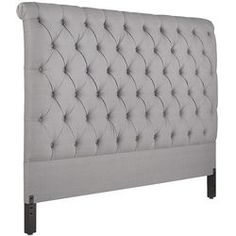 Audrey II Upholstered Pewter King Headboard