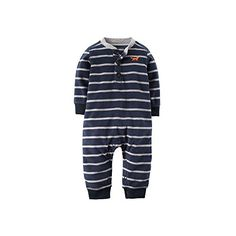 Carters Baby Boys Fleece Navy Striped Fox Jumper 12 Months *** You can find more details by visiting the image link.