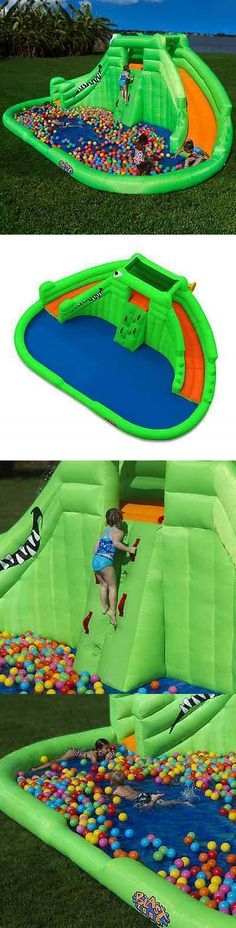 Inflatable and Kid Pools 116407: Outdoor Backyard Inflatable Water Park Kids Wet Pool Slide Bounce Fun House -> BUY IT NOW ONLY: $889.95 on eBay!