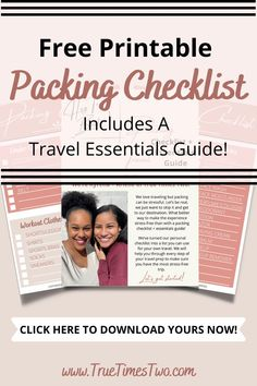 This FREE Packing Checklist + Travel Essentials Guide is the only travel checklist you'll need! Whether you are traveling alone, traveling with friends, or traveling with family, this free download is great for everyone. This printable has our best travel tips and tricks, 4 pages of travel items to remember, and our top 9 travel essentials for anyone traveling to any popular vacation destinations. Make sure to grab this free printable before your next adventure! #packinglist #travel #vacat Summer Packing Lists, Weekend Packing, Packing Tips For Travel, Travel Essentials, Travel Items, Ways To Travel, Development Quotes, Self Development, Life Advice