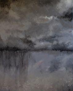 "Rainstorm #3 by Jaquita Ball Acrylic ~ 40"" x 30"""