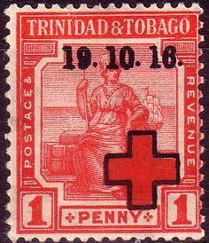 Trinidad and Tobago 1917 WAR TAX Overprint SG 176 Fine Mint Scott MR1  Other West Indies Stamps HERE