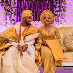 Yoruba Traditional Wedding Attire Styles [Updated May African Wedding Attire, African Attire, African Dress, Nigerian Wedding Dresses Traditional, Traditional Wedding Attire, Nigerian Bride, Nigerian Weddings, African Weddings, African Inspired Fashion