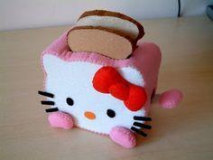 !!!!♥ Feltro-Aholic Moldes e tutoriais em feltro: Kits em feltro da Hello Kitty