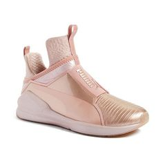 fierce metallic high top sneaker by PUMA. In collaboration with Rihanna's Fenty label, PUMA takes street style to the extreme with an architectural shoe that's...