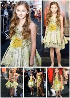 Isabella Kai Rice on the Red Carpet- Unforgettable Movie Premiere - Mischka Aoki Dancing with the Queen Dress. See More Celebrity Girls Fashion.