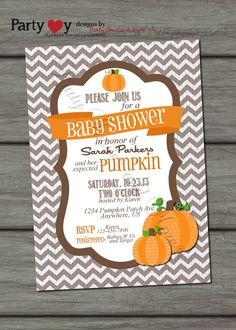 Pumpkin Baby Shower Invitation Fall Baby by PartyInvitesAndMore, $10.00